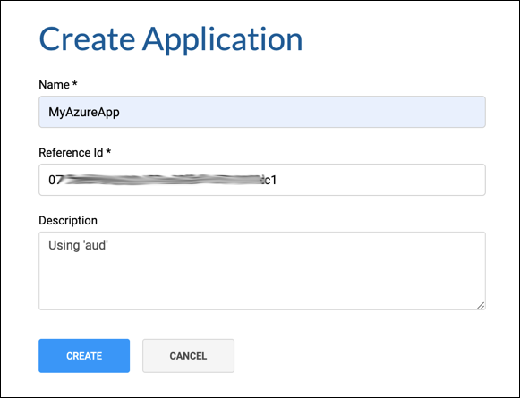 Create Azure Application