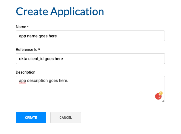 Kong Create Application with Reference Id