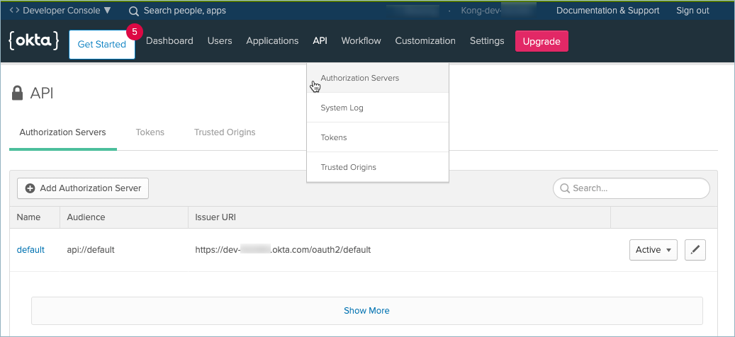 Okta Authorization Server